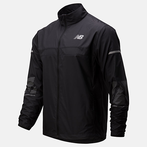 New Balance Reflective Accelerate Jacket, MJ01177BK