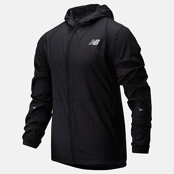 New Balance Impact Run Light Pack Jacket, MJ01237BK