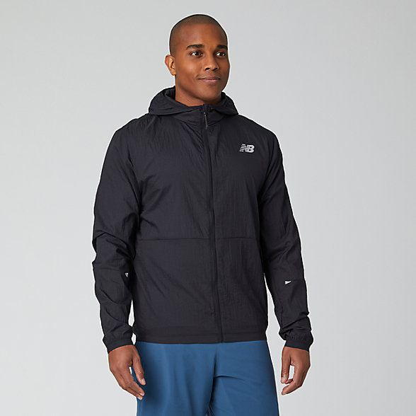NB Impact Run Light Pack Jacket, MJ01237BK
