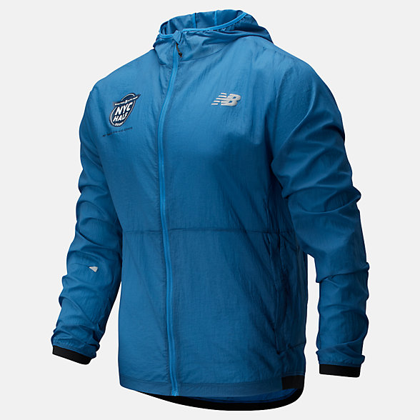 New Balance 2020 United Airlines Half Impact Run Light Pack Jacket, MJ01237CMAK