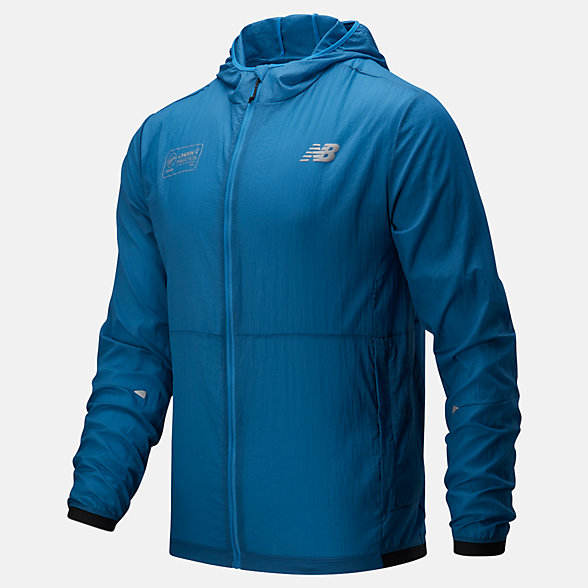 NB London Marathon Impact Run Light Pack Jacket, MJ01237DMAK