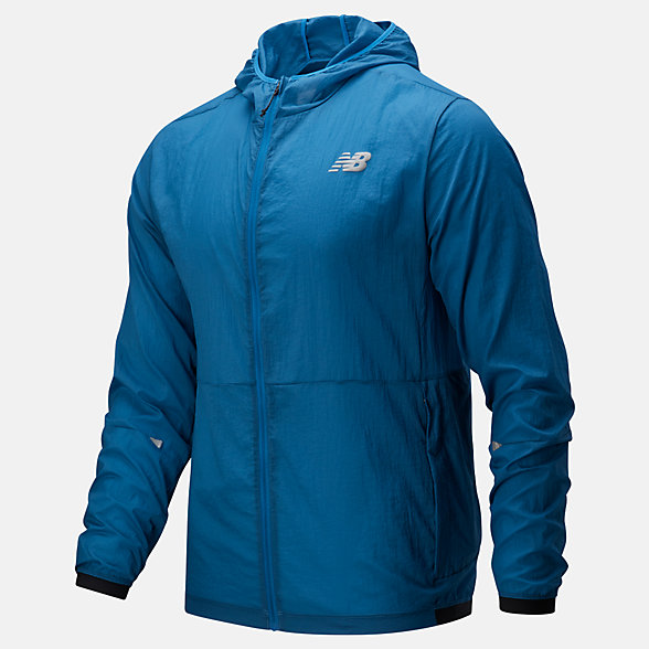 New Balance Impact Run Light Pack Jacket, MJ01237MAK