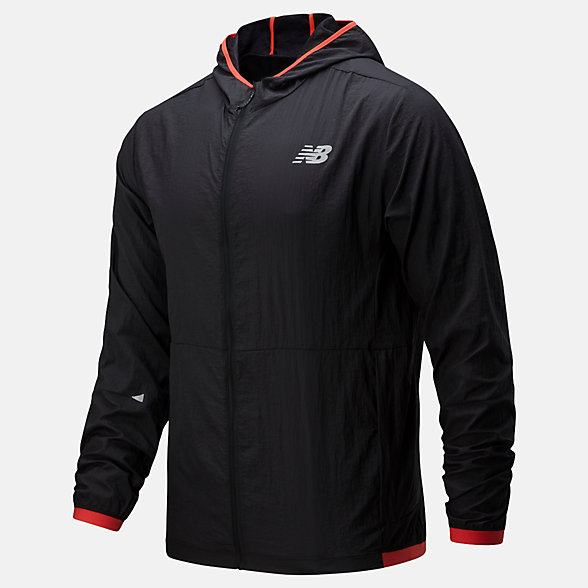 New Balance Printed Impact Run Light Pack Jacket, MJ01238BRD