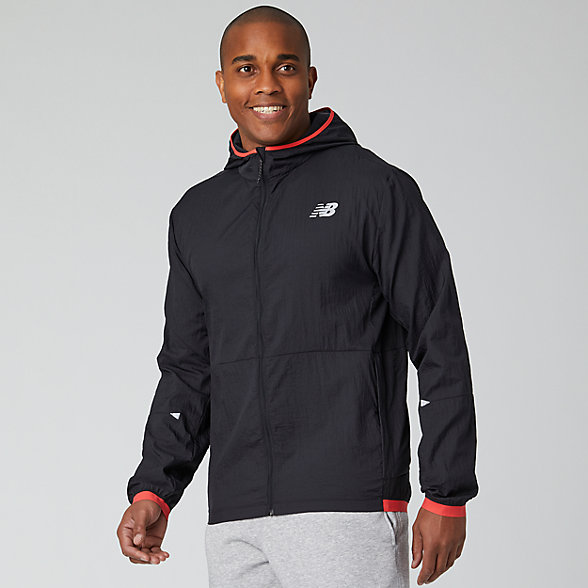 NB Printed Impact Run Light Pack Jacket, MJ01238BRD