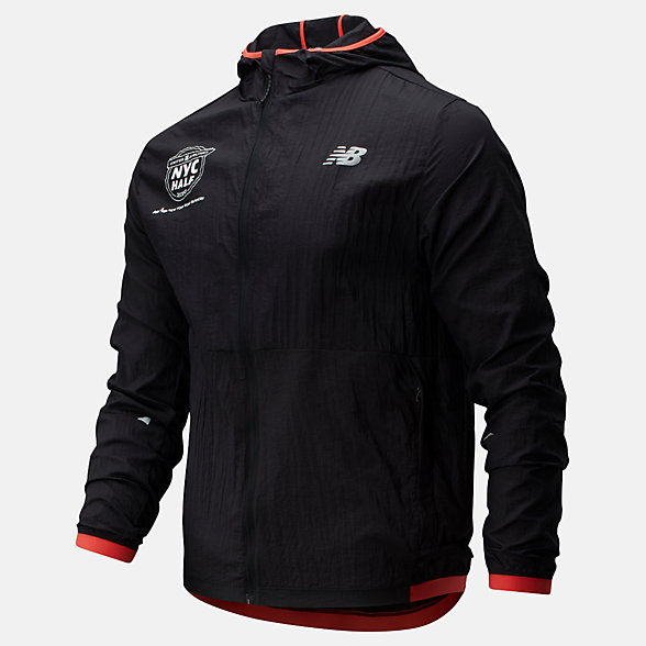 New Balance 2020 United Airlines Half Printed Impact Run Light Pack Jacket, MJ01238CBRD