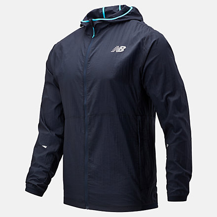 NB Printed Impact Run Light Pack Jacket, MJ01238ECL image number null