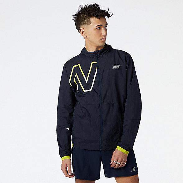 New Balance 男款梭织运动外套, MJ01238SYE