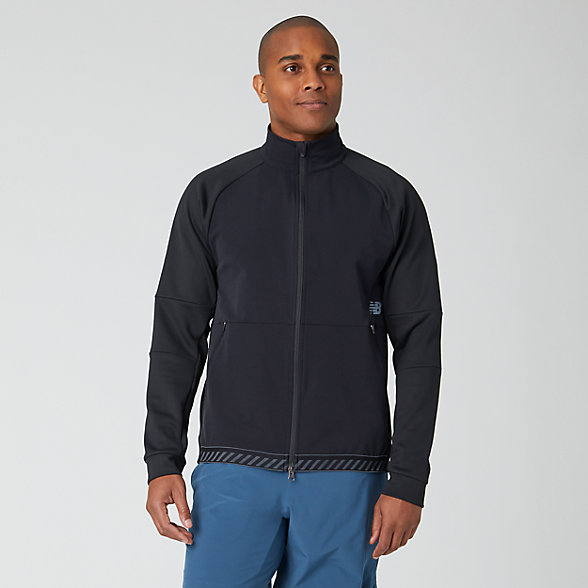 New Balance Q Speed Run Crew Jacket, MJ01262BK