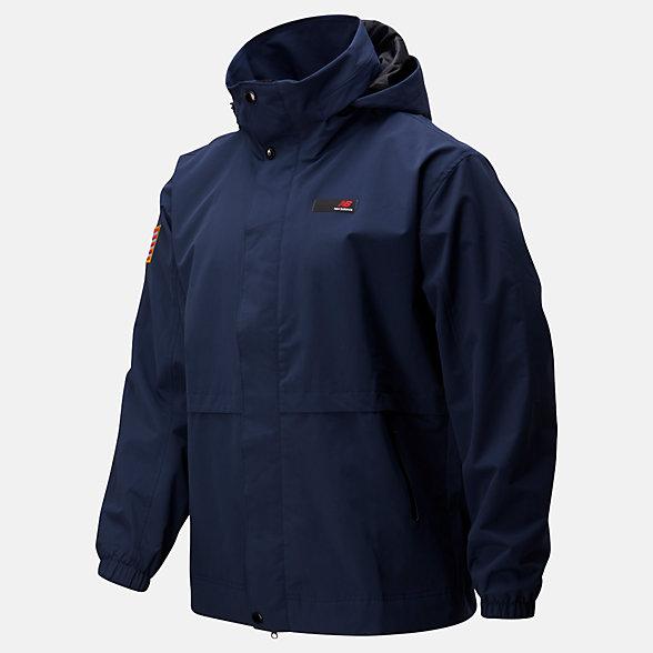 New Balance 男款工装休闲夹克外套, MJ01500NGO