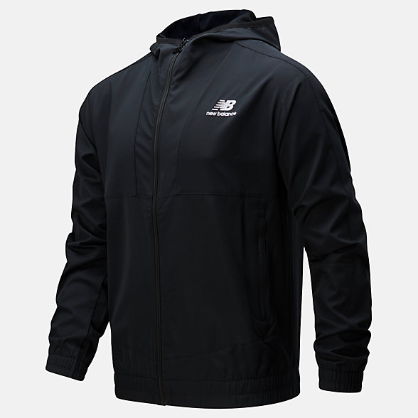 New Balance NB Athletics Full Zip Windbreaker, MJ01502BK