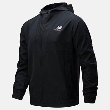 New Balance NB Athletics Full Zip Windbreaker, MJ01502BK image number null