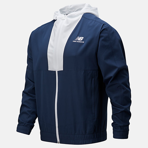 New Balance NB Athletics Full Zip Windbreaker, MJ01502NGO