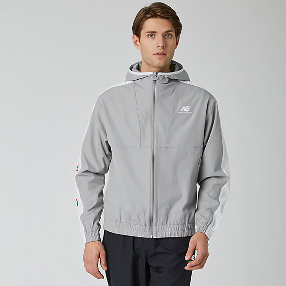 New Balance NB Athletics Full Zip Windbreaker, MJ01502TAG
