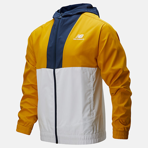 New Balance NB Athletics Full Zip Windbreaker, MJ01502VGL