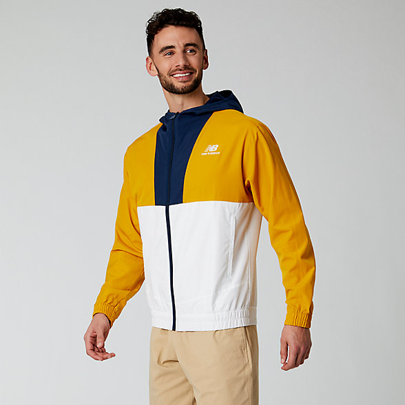 NB NB Athletics Full Zip Windbreaker, MJ01502VGL