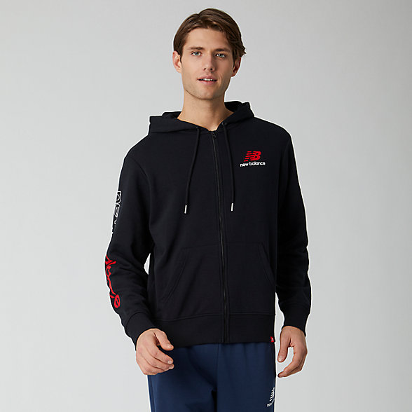 New Balance Essentials Icon FZ Fleece Jacket, MJ01505BK