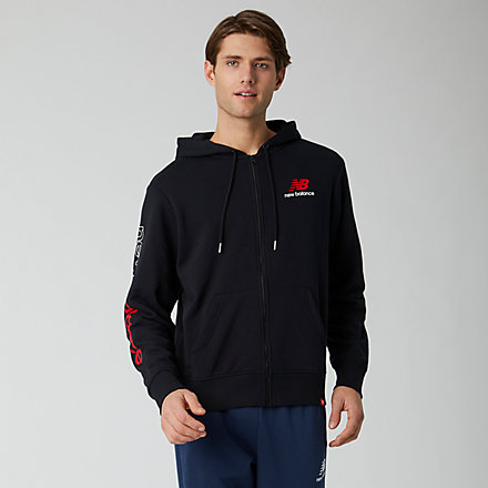 New Balance Essentials Icon FZ Fleece Jacket, MJ01505BK image number null