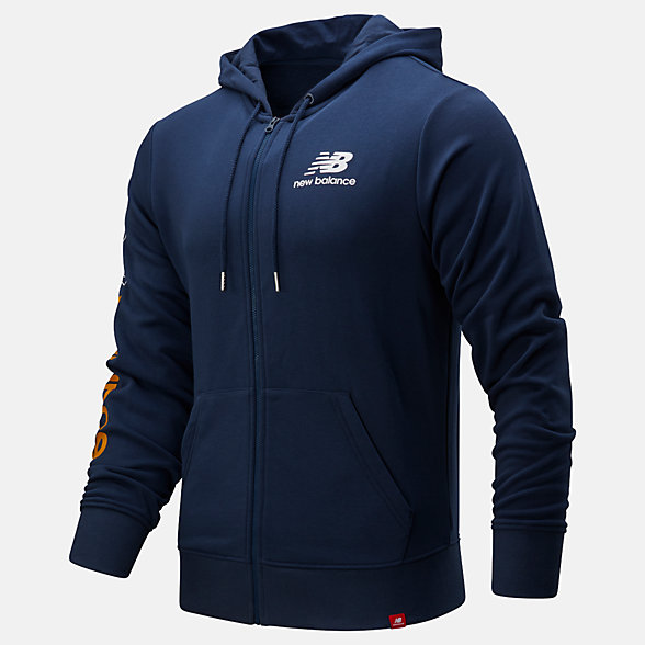 New Balance Essentials Icon FZ Fleece Jacket, MJ01505NGO