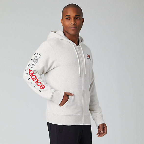 New Balance Essentials Icon FZ Fleece Jacket, MJ01505SAH
