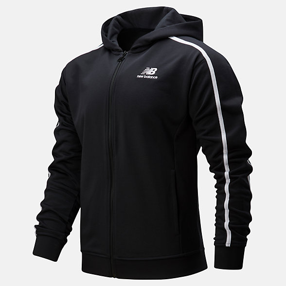 NB NB Athletics Track Kapuzenpullover, MJ01512BK