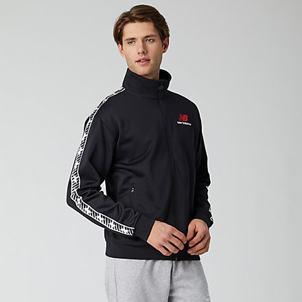 NB Essentials Track Jacket, MJ01516BK image number null