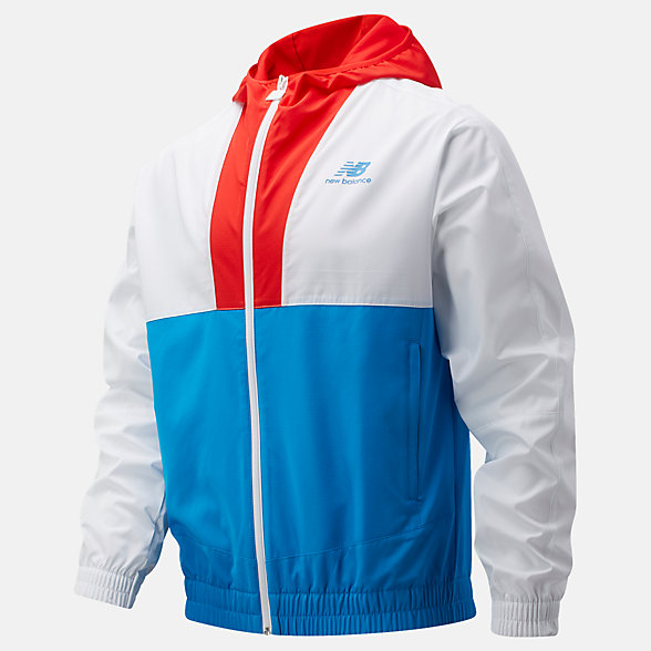 New Balance Boston NB Athletics Full Zip Windbreaker, MJ01600ZVLR