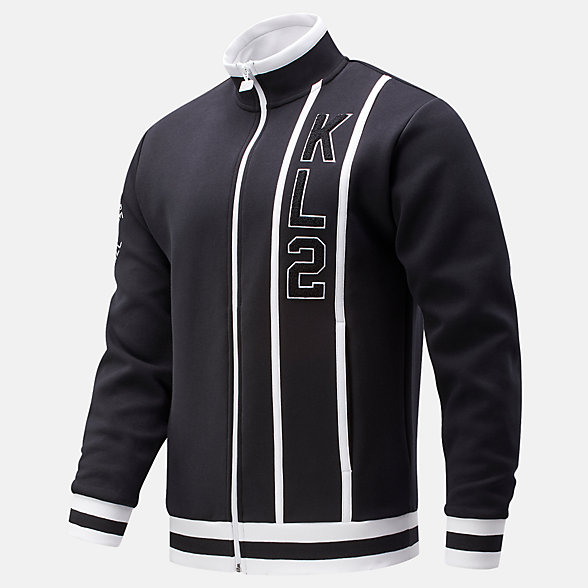 New Balance Kawhi First Light Warmup Jacket, MJ01674BK