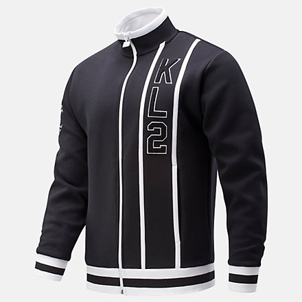 New Balance Kawhi First Light Warmup Jacket, MJ01674BK image number null