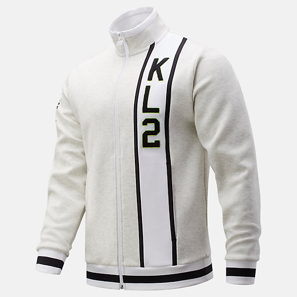 New Balance Kawhi First Light Warmup Jacket, MJ01674SAH