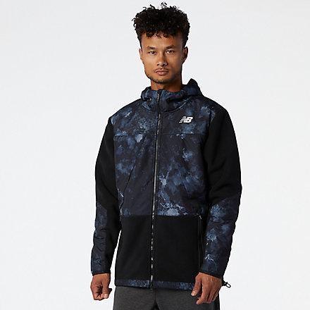 NB R.W.T. Hybrid Fleece Jacket, MJ03040BK image number null