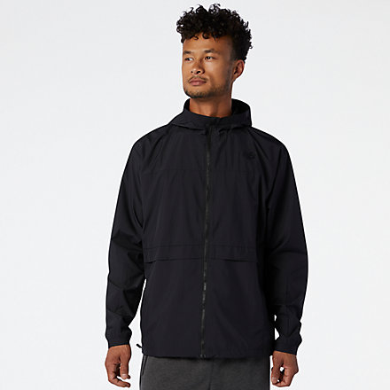 New Balance R.W.T. Lightweight Woven Jacket, MJ03044BK image number null