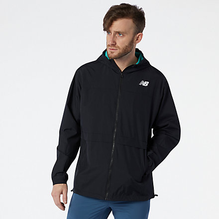 New Balance R.W.T. Lightweight Woven Jacket, MJ03044BKW image number null