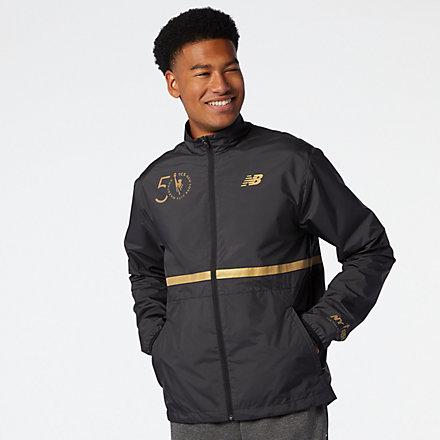 New Balance NYC Marathon Jacket, MJ03200MBK image number null