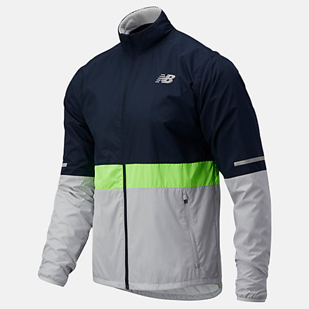 New Balance Accelerate Protect Jacket, MJ03207EGL image number null