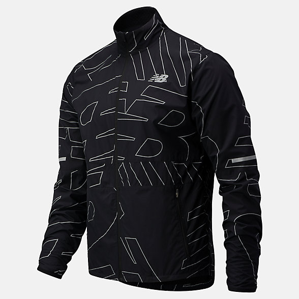 New Balance Reflective Accelerate Protect Jacket, MJ03209BK