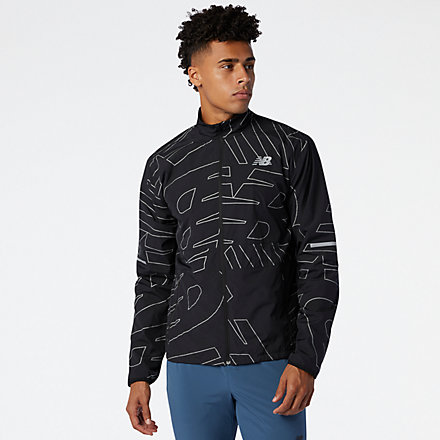 New Balance Reflective Accelerate Protect Jacket, MJ03209BK image number null