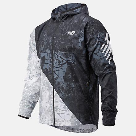 New Balance Printed Fast Flight Jacket, MJ03216BM image number null