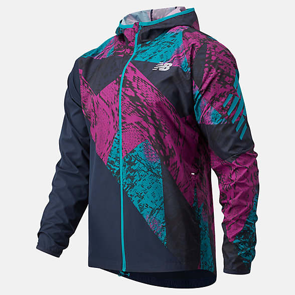 New Balance Printed Fast Flight Jacket, MJ03216JJL