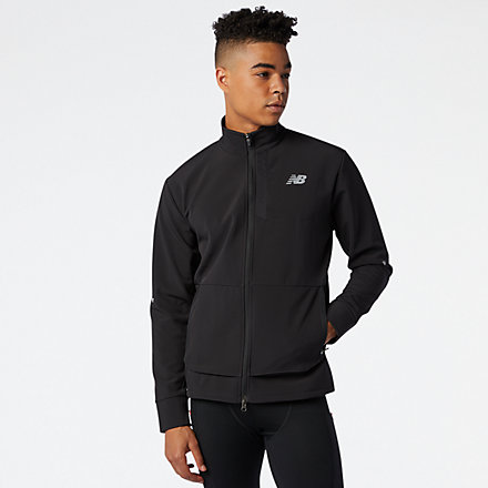 New Balance Impact Run Winter Jacket, MJ03252BK image number null