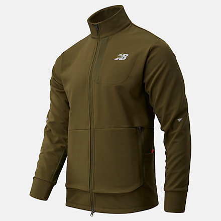 New Balance Impact Run Winter Jacket, MJ03252OLG image number null