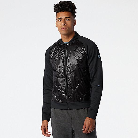 New Balance 男款速干夹棉外套, MJ03266BK