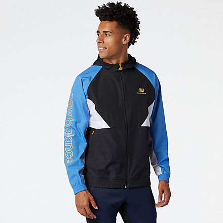 NB NB Athletics Podium Windbreaker, MJ03502FCB image number null