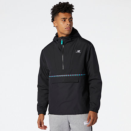 NB NB Athletics Terrain Anorak, MJ03514BK image number null