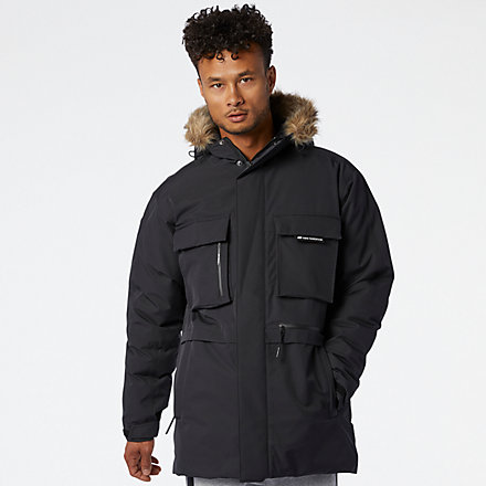 NB Sport Style Down Parka, MJ03515BK image number null