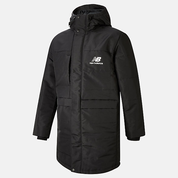 NB NB Athletics Terrain Long Insulated Jacket, MJ03522BK