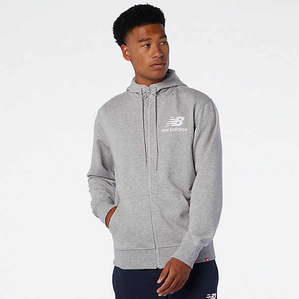 NB NB Essentials Stacked Full Zip Hoodie, MJ03558AG