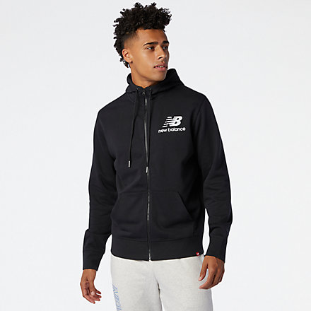 NB NB Essentials Stacked Full Zip Hoodie, MJ03558BK image number null