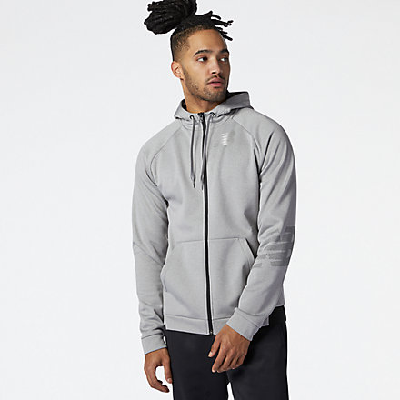 NB Tenacity Fleece Full Zip Hoodie, MJ11020AG image number null