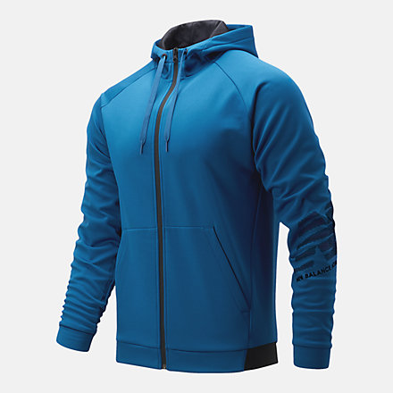 New Balance Tenacity Fleece Full Zip Hoodie, MJ11020CNB image number null