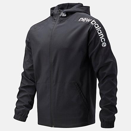 New Balance Tenacity Woven Jacket, MJ11027BK image number null
